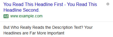 Expanded Text Ad example formatting