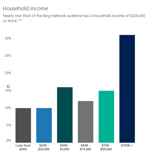 bing user average household income luxury brand marketing strategy