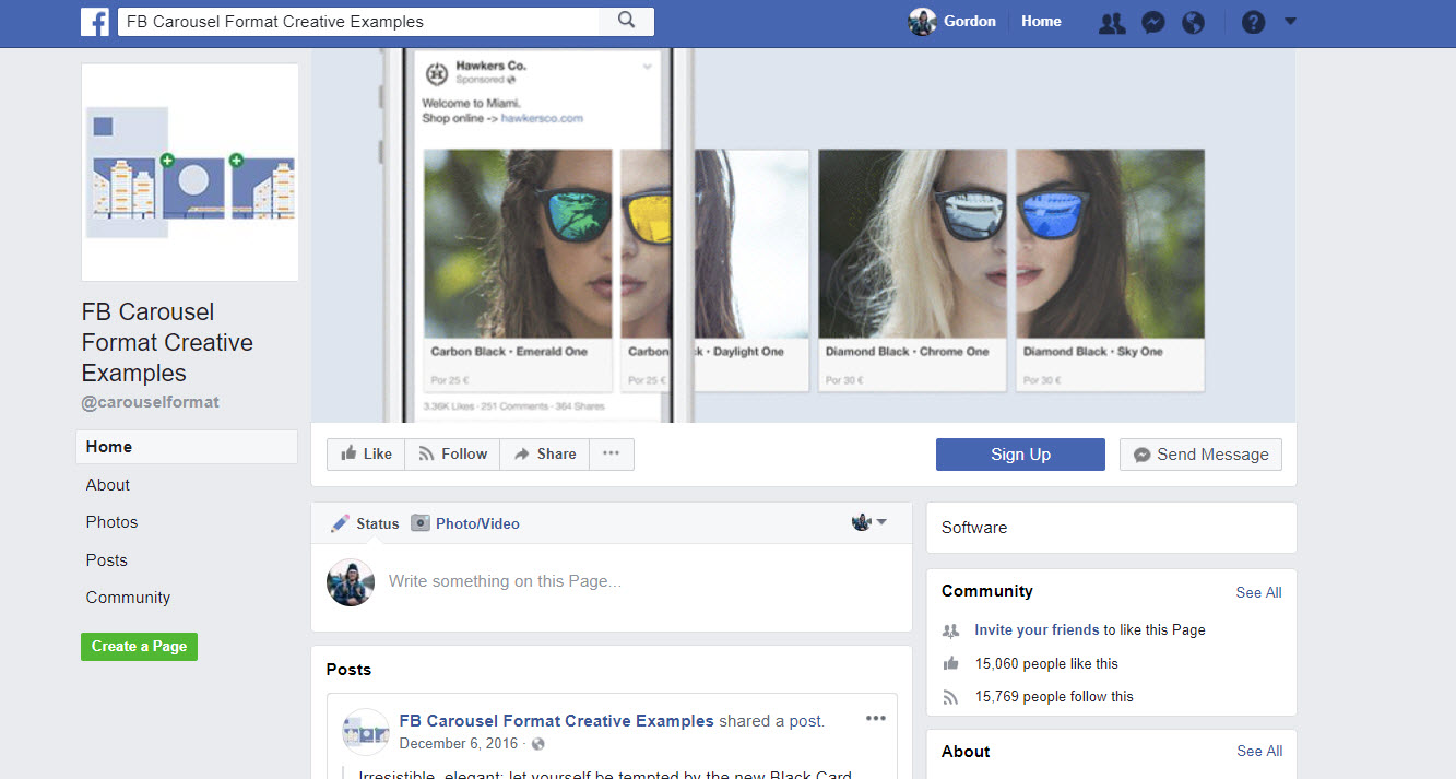 Facebook Carousel Ads Examples