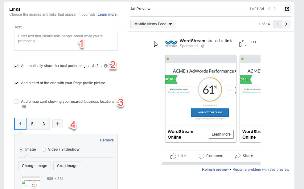 Facebook Carousel Ads Product 1