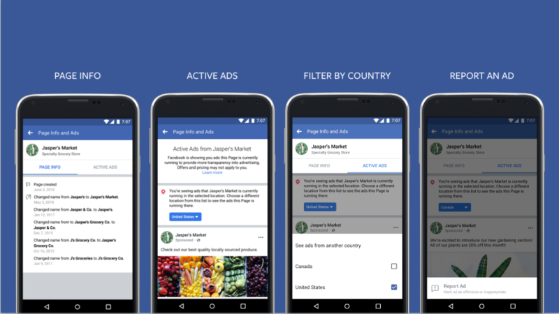 facebook ad transparency examples