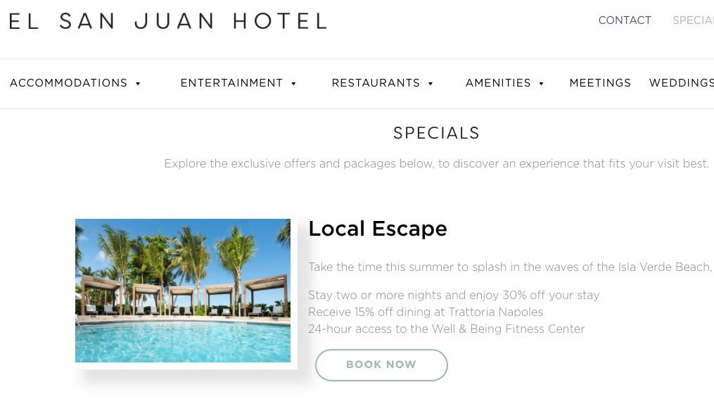 hotel marketing special offers