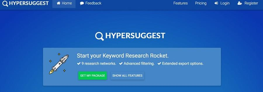 YouTube keyword research tools Hypersuggest
