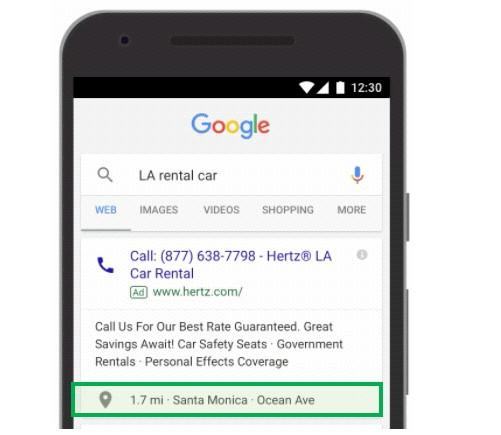 automated ad extensions location extension