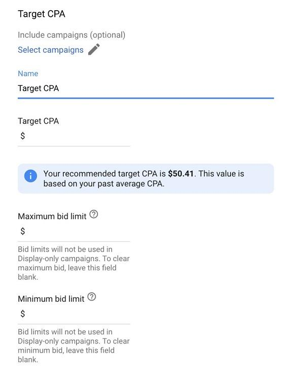 Setting Target CPA
