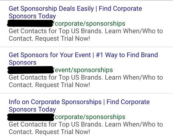 search term ads