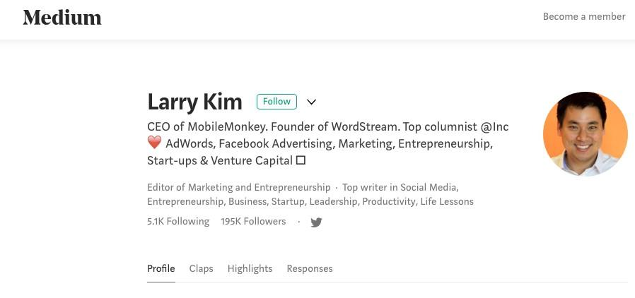 Larry Kim on Medium