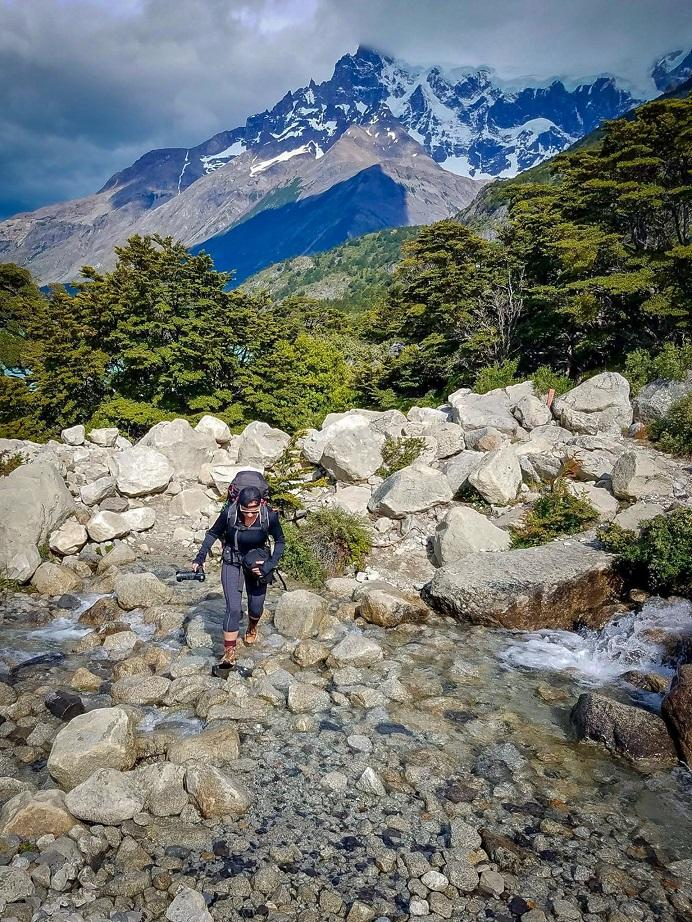 Tiffany hiking in Chile