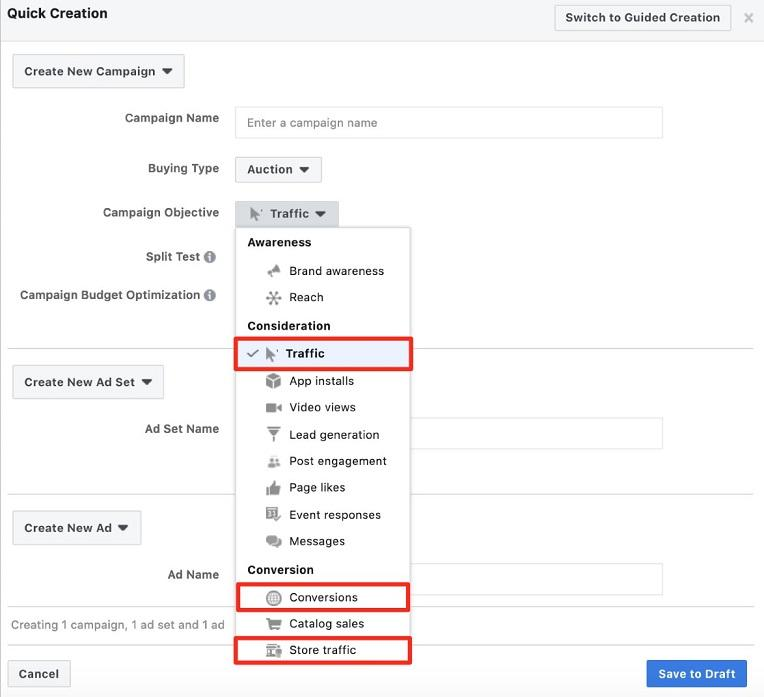 Facebook offer ads setup