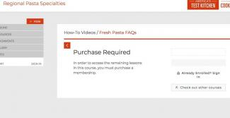 video email marketing landing page example