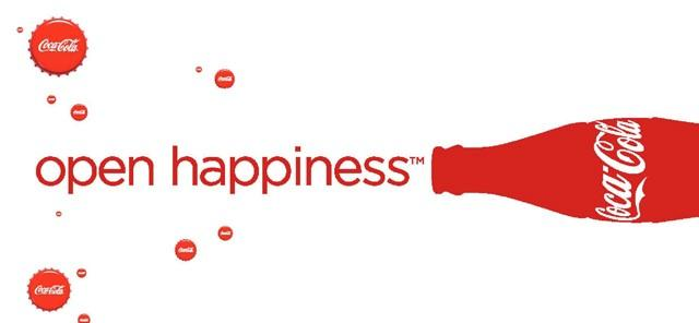 Coke ad with message