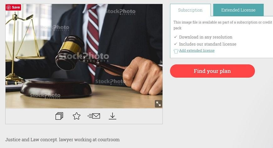 stock photo of man with gavel