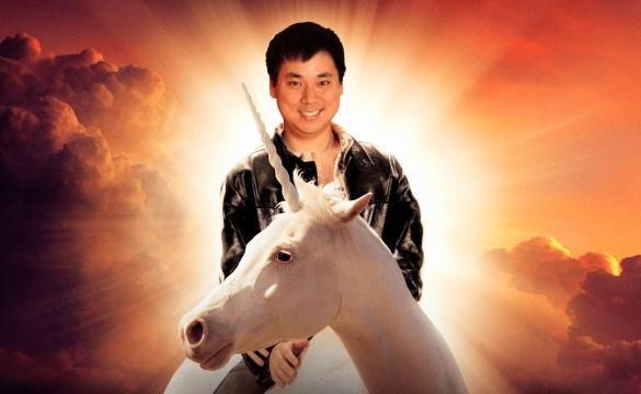 Larry Kim on a unicorn