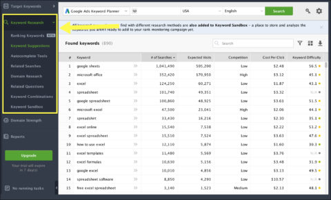 Four cool keyword research tools you can use for free now