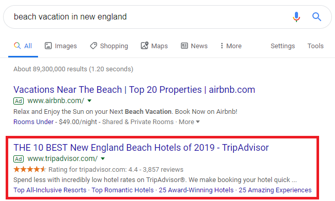 copywriting-tips-tripadvisor-google-text-ad-example