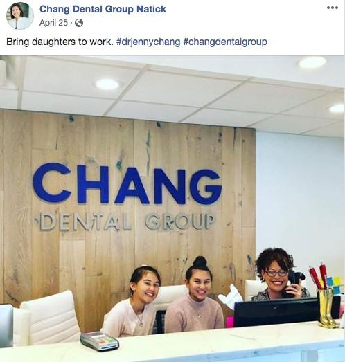 Facebook ads for dentists with people