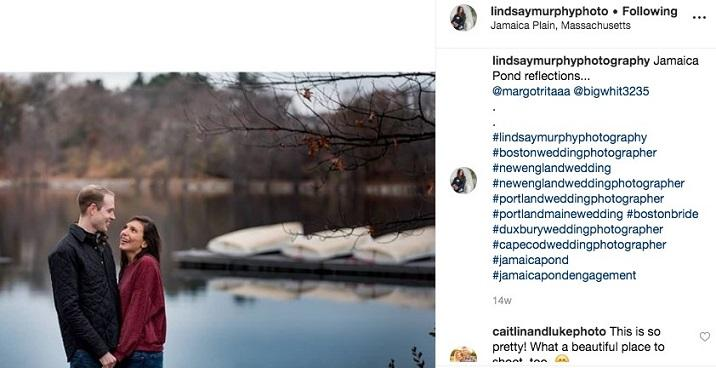 Instagram post with hashtags