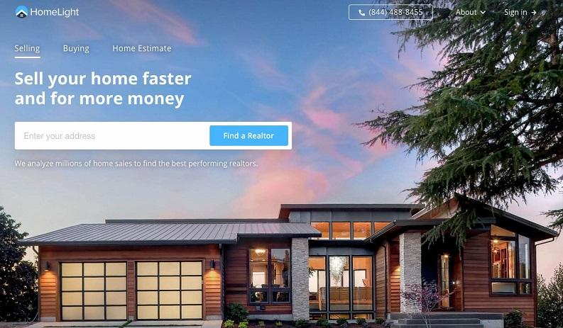 HomeLight landing page