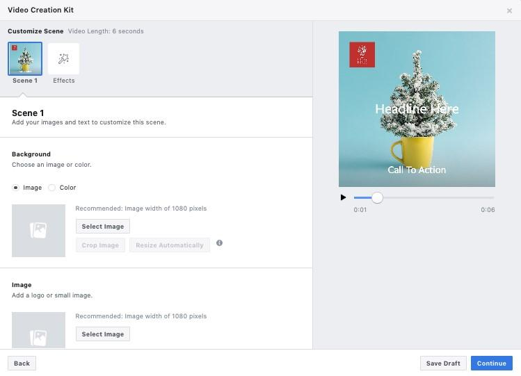 Facebook Slideshow Ad Video Creation Template