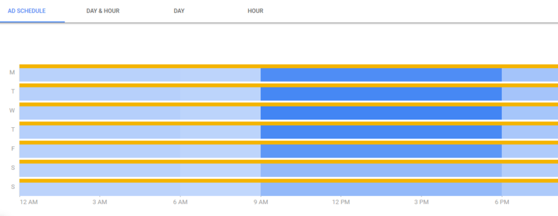 google-facebook-campaign-structure-ad-schedule-settings