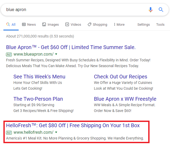 google-sunsets-accelerated-delivery-competitor-campaign-example