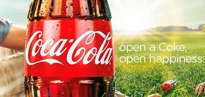 Coke ad with sunshine and happiness