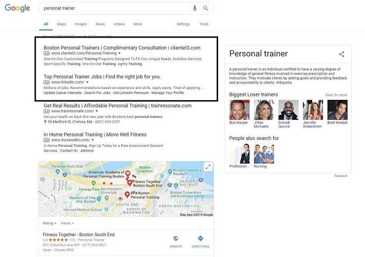 SERP for trainer