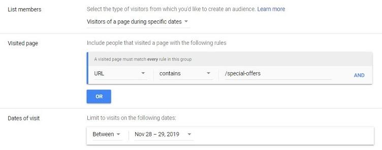 Google Ads audience exclusions in the ad manager