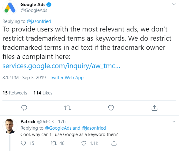 google-competitive-ad-policy-response-to-fried