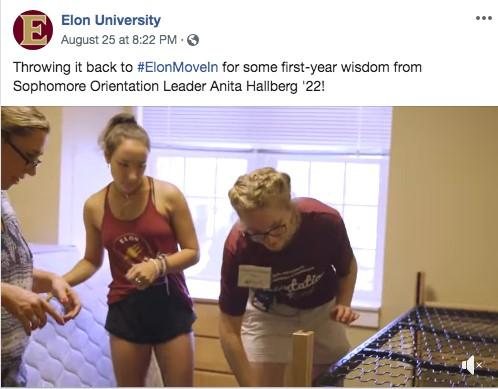 higher education marketing social media example of happy students