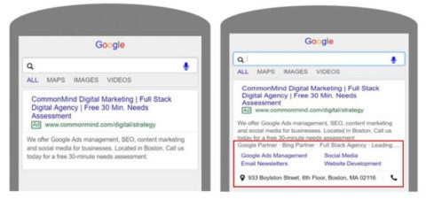 A visual guide for every Google Ads extension