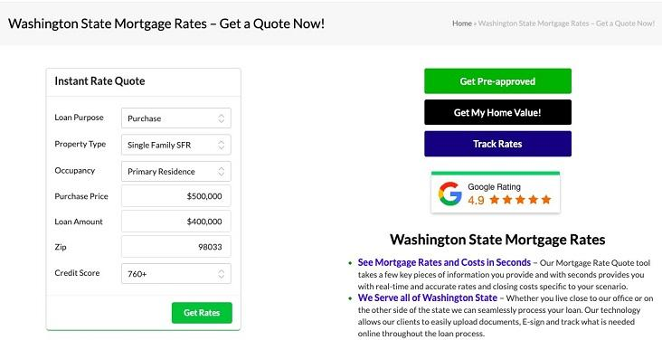 localized lead magnet landing page example
