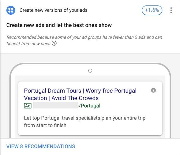 example of automated ad copy