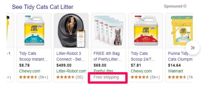 Pretty Litter ecommerce discount