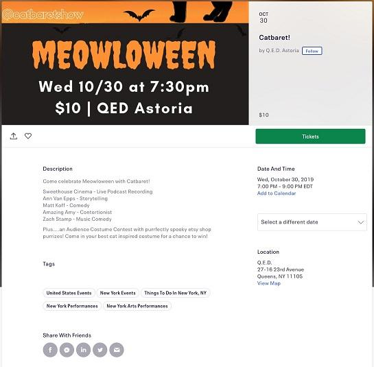 event landing pages by EventBrite example