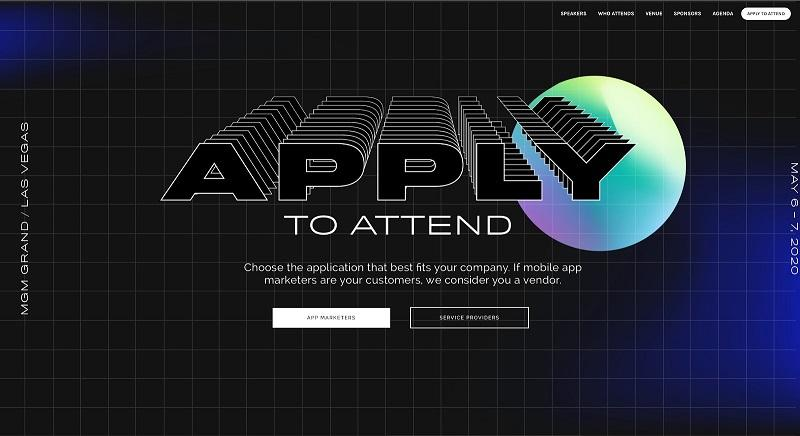 event landing page for Grow example