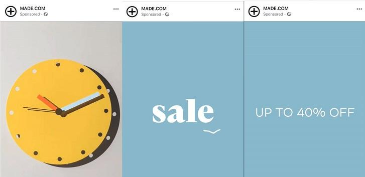 Instagram post with countdown timer