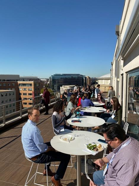 WordStream Live lunch on the roof deck