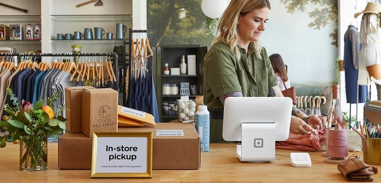 image of a store with Square payment processor