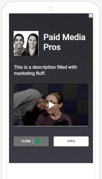 display ad with video example