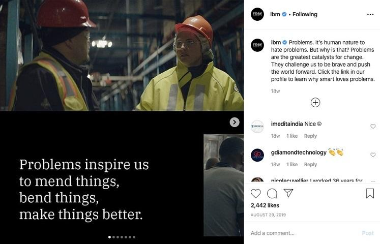 Best Business Instagram Account: IBM