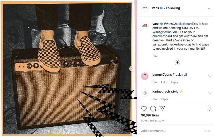 Best Business Instagram Account: Vans