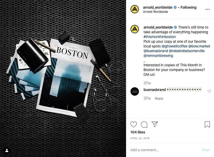 Best Business Instagram Account: Arnold Worldwide