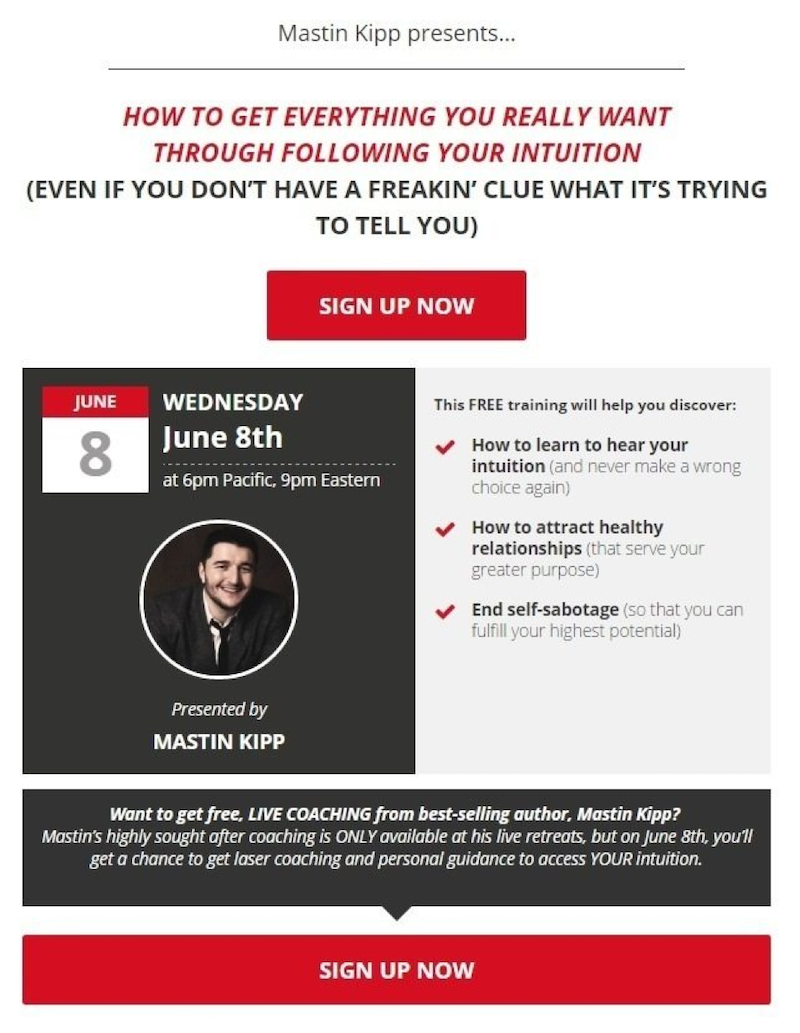 better webinar landing pages mastin kipp example