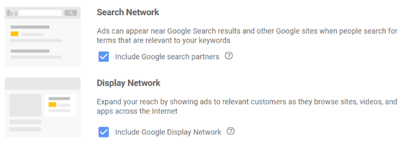 google display network mistakes search display