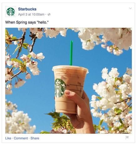 weather-based Facebook ad example for spring