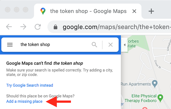 how to rank higher on google maps add missing place token shop