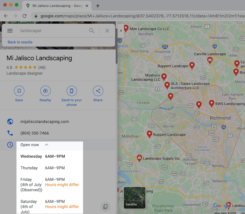 how to rank higher on google map keep hours updated